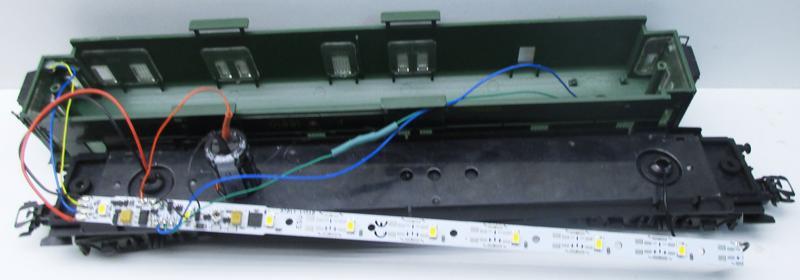 Umbau Märklin Personenwagen 4146 Mit Esu Lichtleiste 50708